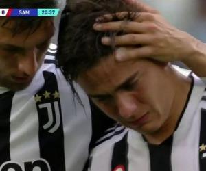 早早进球又早早受伤    迪巴拉哭着离场